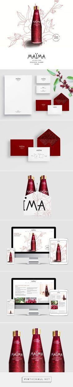 MAÏMA Hibiscus Drink Branding and Packaging by Studio Fernanda Schmidt