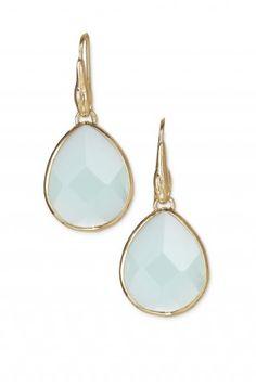 Brown or Green Glass Stone Drop Earrings   Amity Drops   Stella & Dot