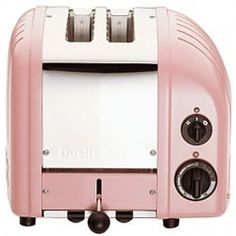 Dualit New Generation Vario Bread Toaster - Petal Pink at Kitchen Universe. The Dualit Vario toaster combines simplicity and sophistication perfectly. Designed for commercial use the toaster is hand assembled in England and built to last. Pink Kitchen Appliances, Small Appliances, Kitchen Items, Kitchen Gadgets, Kitchen Dining, Kitchen Stuff, Kitchen Retro, Kitchen Supplies, Vintage Kitchen