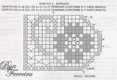 Crochê Bya Ferreira: 3 Gráficos de Barrados em crochê