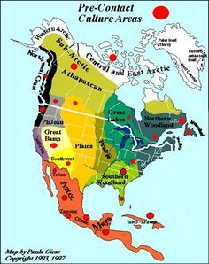 Map of the North American First Nations