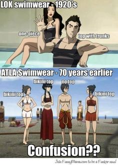 Swimwear...I love the animators in this show...look how Azula, Zuko, Mai, and Ty are standing.  Each of their stances reflects their character so well.  It's screenshots like this that make you notice this stuff ;)