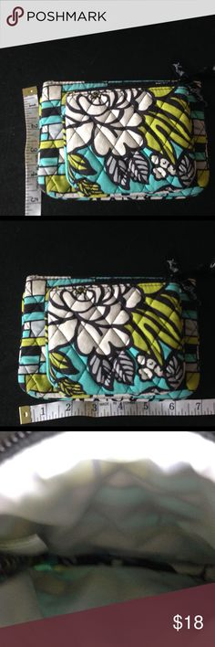 Vera Bradley lot of 2; small makeup bag & coin bag Vera Bradley lot of 2; small makeup bag & coin bag. The price is for both . They are in EUC   Great price for the lot. Vera Bradley Bags Cosmetic Bags & Cases
