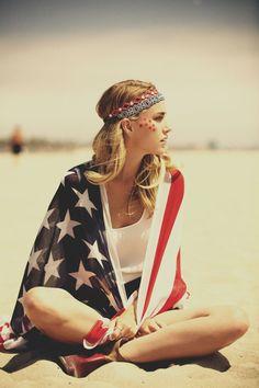 Need this American Flag kimono for Tomorrowland
