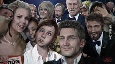 A better group selfie...
