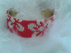 fleurs d'hibiscus tissées avec des perles miyuki : Bracelet par yedura