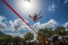 #Photography : Tricks in the air ! - Trickline Contest, Natural Games 2012