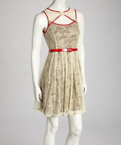 Take a look at this Ryu Cream Lace Dress on zulily today!