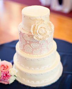 gorgeous lace cake