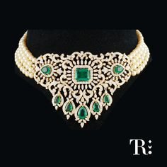 Diamond Choker with Pearls Chain by Tibarumal - Jewellery Designs