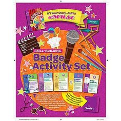 Girl Scout Junior Badge Activity Set. aMUSE. It's Your Story - Tell It! $4