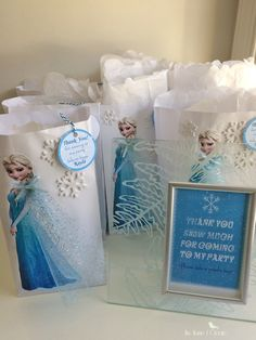 DIY Frozen Favor Bags Tutorial | The Home I Create