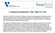 The case for #commoncore standards. #K12 #education