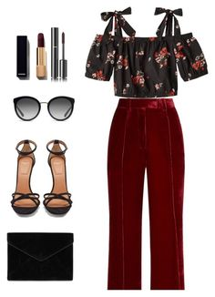"""""""Floral Top"""" by melaniemeran ❤ liked on Polyvore featuring Racil, Rebecca Taylor, Givenchy, Rebecca Minkoff, Dolce&Gabbana and Chanel"""