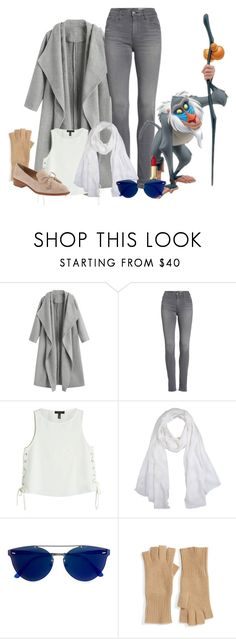 """""""Untitled #564"""" by maggiethedork ❤ liked on Polyvore featuring AG Adriano Goldschmied, rag & bone, Versace, RetroSuperFuture, Halogen and Banana Republic"""