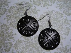 Gorgeous Carved Coconut EarringsCHIRPXO by featherwhore on Etsy, $3.50