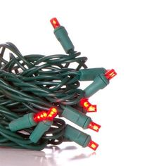 50 Wide Angle Red LED Christmas Light Set; Green Wire by Primo Lights. $14.25. Red LED Christmas lights on green wire - connect up to 3000 lights on a single run! Virtually unbreakable, colors will not fade or peel, and bulbs stay cool to the touch. LED string lights last up to 16x longer than traditional mini lights and use up to 98% less electricity! Two fuses included.
