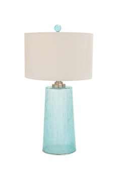 Blue Coast Table Lamp - Tall  The delicate Blue Coast Table Lamp has unparalleled beauty that will add a designer flair to your beach or coastal inspired decor. This lamp is perfect for a main living space or for bedrooms.   #coastaldecor