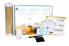 The Silhouette America glass etching starter kit makes it easy to permanently etch your own design and text onto glassware and mirrors. The kit includes everything you need to get started creating your own personalized projects, including etching cream, stencil vinyl, transfer tape, tools, and 10 exclusive designs. #Wishlist #BlackFriday