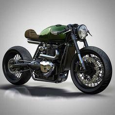 @caferacergram by CAFE RACER #caferacergram # Triumph concept by @ziggymoto…
