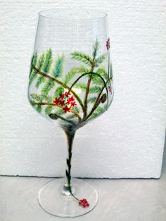 Hapu & Orchid Wine Glass by cassidy808 on Etsy, $20.00