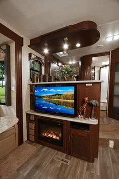 Fireplace and Huge Tv in this 5th Wheel! < Heartland Toy Haulers | Heartland RVs