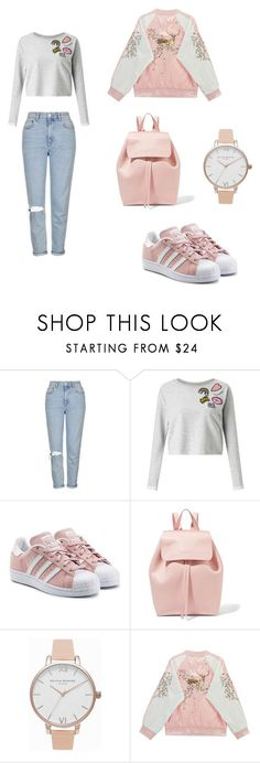 """Untitled #2"" by dariagavris ❤ liked on Polyvore featuring Topshop, Miss Selfridge, adidas Originals, Mansur Gavriel, Olivia Burton and Chicnova Fashion"