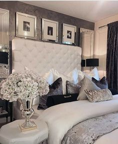 Amazing and stylish USA houses and apartments. Contemporary home decor and mid-c. Amazing and stylish USA houses and apartments. Contemporary home decor and mid-century modern light Living Room Interior, Room Decor Bedroom, Bathroom Interior, Glam Bedroom, Bedroom Ideas, Living Rooms, Cozy Bedroom, Mirrored Bedroom Furniture, Trendy Bedroom