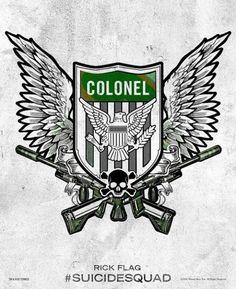 Suicide Squad - des posters-tattoo des personnages : Rick Flag