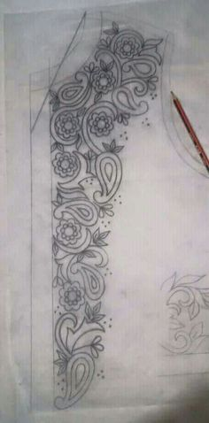 This Pin was discovered by Neş Embroidery Dress, Ribbon Embroidery, Embroidery Stitches, Hand Embroidery Designs, Embroidery Patterns, Embroidery Techniques, Fabric Painting, Beading Patterns, Pattern Design