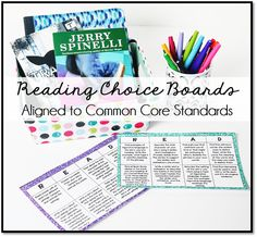 Reading Choice Boards Aligned to the Common Core Literacy and Informational Standards. These choice boards are great for reader's response, reading centers, daily five, and more.