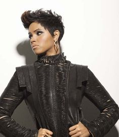 I am in love with her hair! short Mohawk