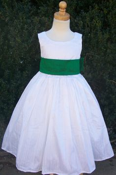 Emerald Green Silk Flower Dresses Size 2 3 4 By Mapletree2000 90 00