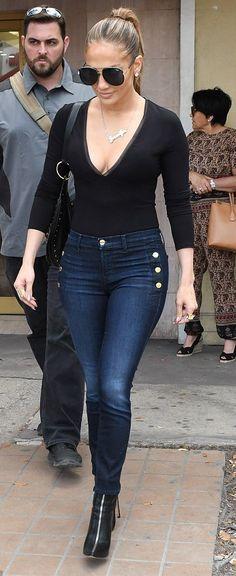 Jennifer Lopez  in Twenty out in Miami. #bestdressed