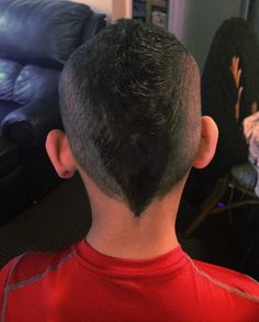 Faded Mohawk By Christy Farabaugh D wants a Mohawk, not sure if I'm ready to let him go that far, happy medium?