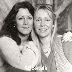 Instagram media abbatalk - We love this photo of #Agnetha and #Frida, shared by ABBAtalker John. The photo was originally used for an interview in The Sun newspaper, 1979 #ABBA