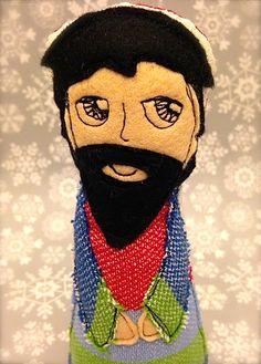 Freehand machine stitched Joseph Handmade Dolls, Joseph, Stitch, Design, Full Stop, Sew, Stitches, Embroidery