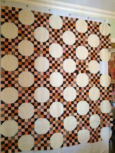 """I fell in love with """"LUCY """" the first time I saw it on Thelmas blog.  I am not into bright halloween fabrics and this quilt just fit the bil..."""