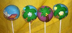Sea turtle cake pops