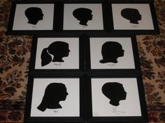 How to do a silhouette picture of your children after taking a side view photo of them-- Silhouettes framed and finished