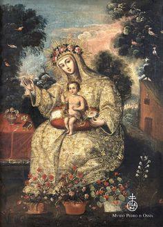 Santa Rosa de Lima, anónimo, Cuzco siglo XVIII, óleo sobre lienzo. Colección del Museo Pedro de Osma