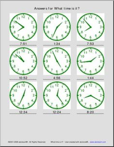 Time Worksheets I abcteach provides over worksheets page 1 What Time Is, Worksheets, Clock, Education, Math, Watch, Math Resources, Literacy Centers, Teaching