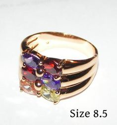 Multi Colored Topaz Ring Free Shipping