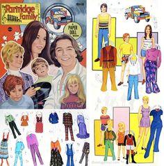 Partridge Family paper dolls