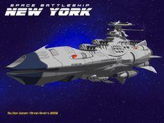 EDF Space Battleship New York (Space Battleship Yamato- Starblazers universe) by Don Gaiser and Brian Rivers