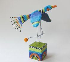 "Lynne Sausele ""Beaded Bird Automata"""
