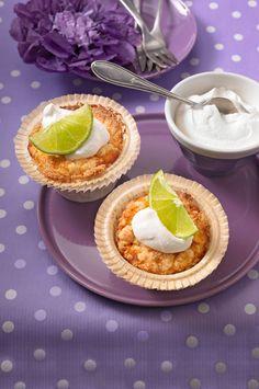 Limetten - Muffins mit Kokos