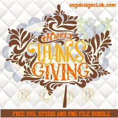Free Thanksgiving Leaf SVG, Silhouette studio and png bundle