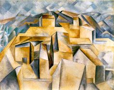 Pablo Picasso Houses on the Hill Horta de Ebro oil painting for sale; Select your favorite Pablo Picasso Houses on the Hill Horta de Ebro painting on canvas or frame at discount price. Georges Braque, Cubist Paintings, Cubist Art, Kunst Picasso, Picasso Art, Cubist Movement, Polychromos, Paul Gauguin, Guernica
