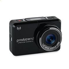 Action Sports Camera Car Dash Cam Wifi - Produtrend Video ActionCam 120 Degree Wide Angle Lens Full HD Camcorder 1920 x 1080P 8 Megapixel CMOS Sensor - Timer, Time Lapse, Loop Recording. For product info go to: www.caraccessorie...